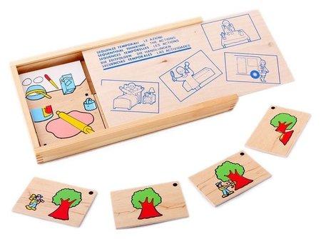 """Игра детская деревянная домино """"Последовательность действий""""  Lam Toys"""