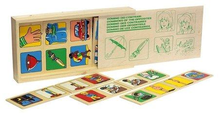 Игра детская деревянная домино Противоположности Lam Toys