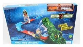 Трек разгонный с 2 машинками и крокодилом  Kutch Wheels