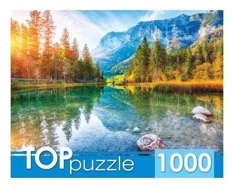 Пазлы 1000 элементов Германия. Озеро Хинтерзее  Рыжий кот