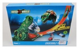 Игровой набор автотрек и машинка Атака крокодила