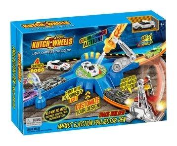 Игровой набор автотрек с 1 меняющей цвет машинкой, ручка со светом  Kutch Wheels