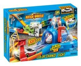 Игровой набор автотрек с меняющей цвет машинкой, туннель со светом