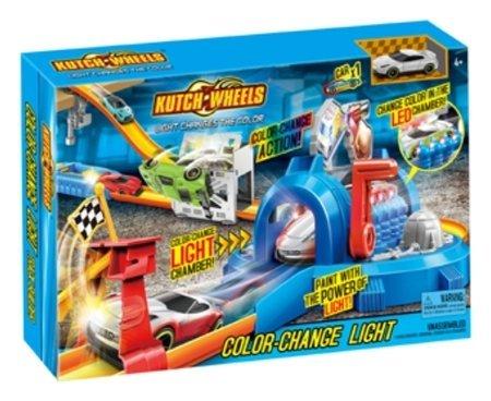 Игровой набор автотрек с меняющей цвет машинкой, туннель со светом  Kutch Wheels