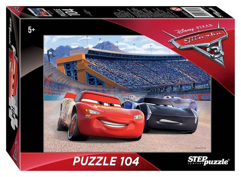 Пазл 104 элемента Тачки - 3  Step puzzle