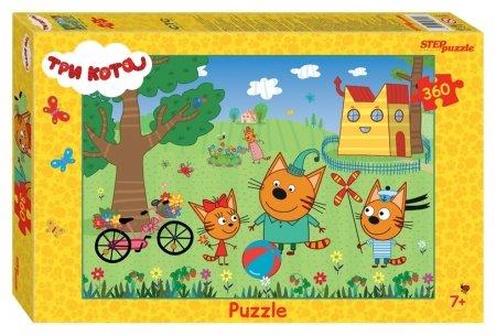 Пазлы 360 элементов Три кота  Step puzzle