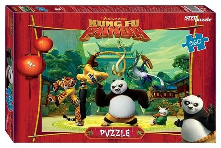 Пазл 560 элементов Кунг-фу Панда  Step puzzle