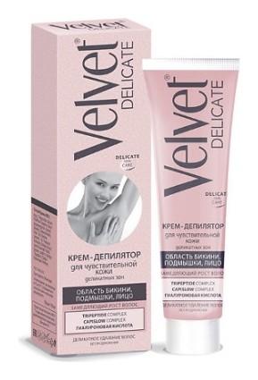 Крем-депилятор для чувствительной кожи деликатных зон  Velvet