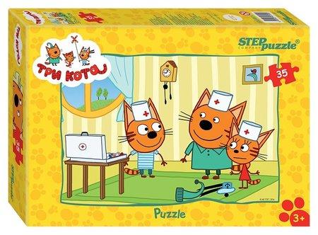 Пазл 35 элементов Три кота  Step puzzle