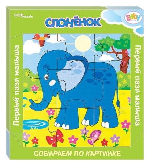 Пазл из дерева Слонёнок  Step puzzle