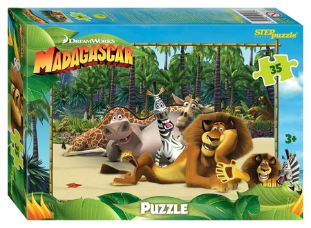 Пазл 35 элементов Мадагаскар - 3  Step puzzle