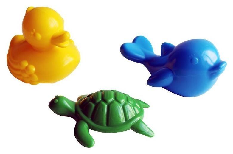 Набор для купания 3 предмета (дельфин, черепаха, уточка)  Стром