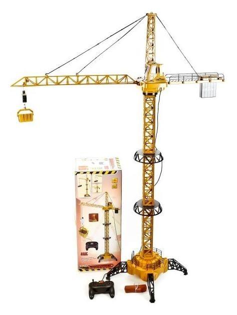 Кран башенный радиоуправляемый со светом  Yako