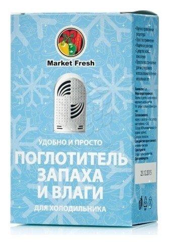 Поглотитель запаха и влаги для холодильника, 1 шт  Market Fresh