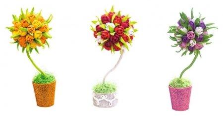 Набор для творчества Топиарий Тюльпаны  Волшебная мастерская