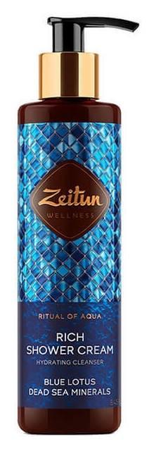 Крем для душа с голубым лотосом и минералами мертвого моря  Zeitun