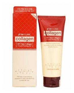 Пилинг-скатка с коллагеном Collagen Crystal Peeling Gel 3W CLINIC