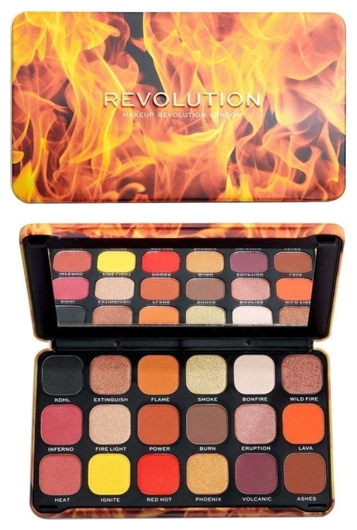 Палетка теней для век Fire Makeup Revolution Forever Flawless