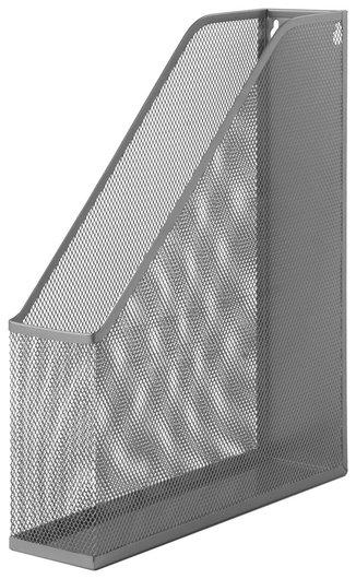 """Лоток вертикальный для бумаг """"Germanium"""" (250х72х315 мм), металлический, серебряный  Brauberg"""