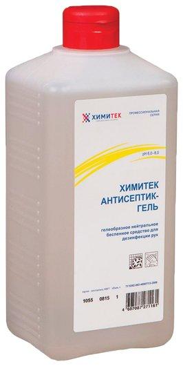 Антисептик кожный дезинфицирующий спиртосодержащий (60%), антисептик-гель, нейтральное, под дозатор  Химитек