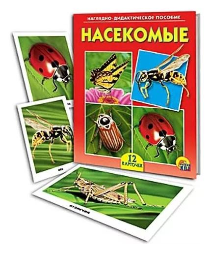 Обучающие и развивающие карточки Насекомые Рыжий кот Научно-Дидактическое пособие