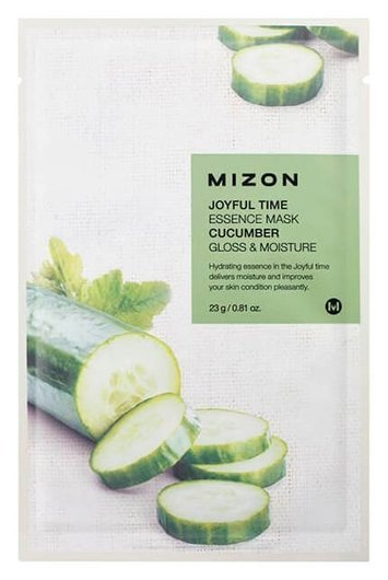 Тканевая маска Joyful Time Essence Mask Cucumber  Mizon