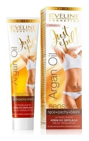 Ультранежный крем для депиляции чувствительных зон sensitive  Eveline Cosmetics