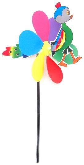 Вертушка цветок с птичкой  КНР Игрушки