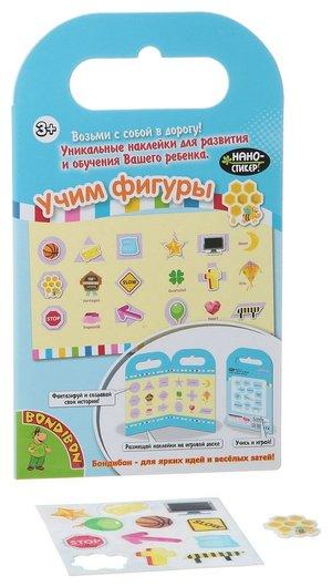 "Набор наклеек ""Нано-стикер: Учим фигуры""  Bondibon"