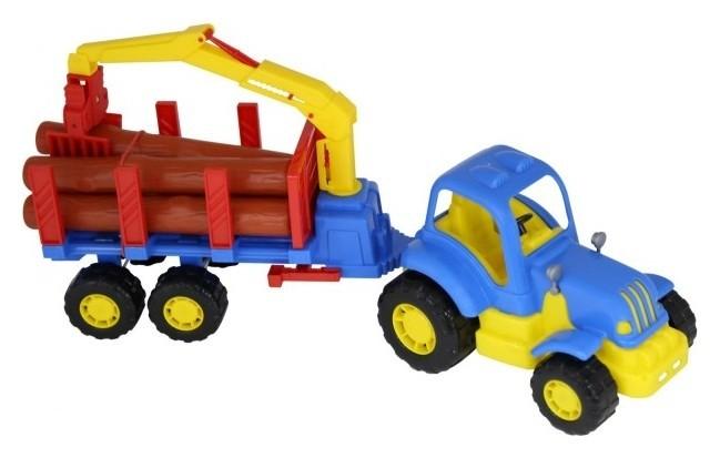 """Трактор с полуприцепом-лесовозом """"Крепыш"""""""