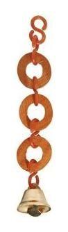 Игрушка для птиц Три кольца деревянным колокольчиком  Triol