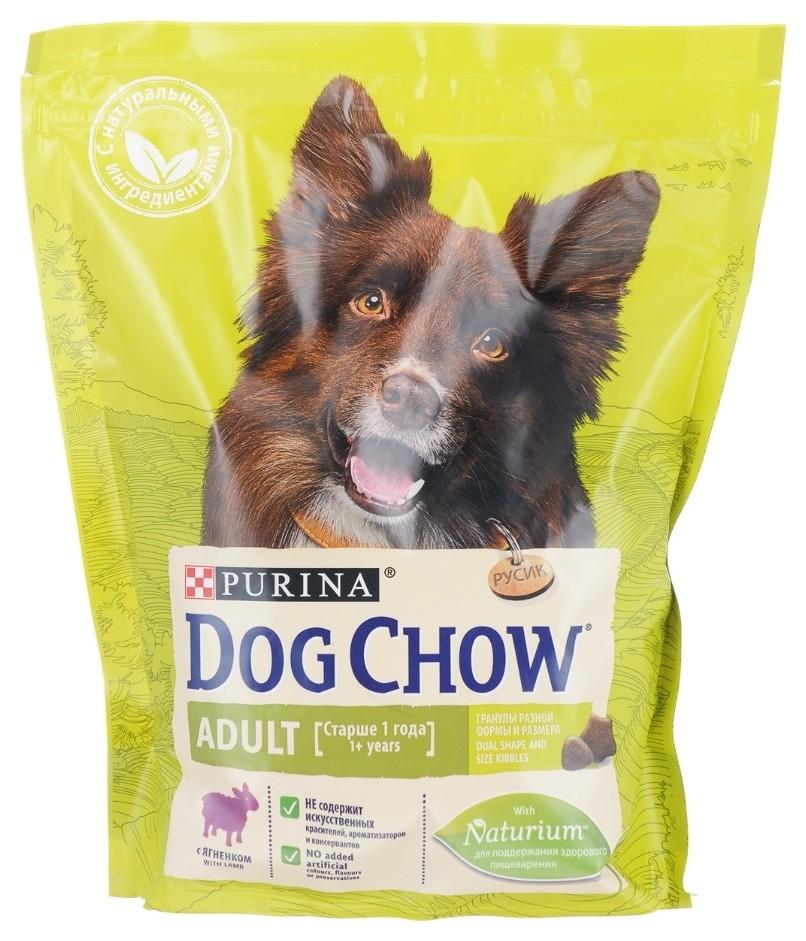 Корм сухой для взрослых собак всех пород с ягненком  Dog chow