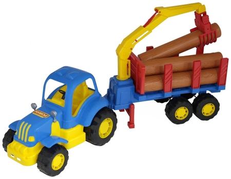 Трактор с полуприцепом-лесовозом Силач  Полесье