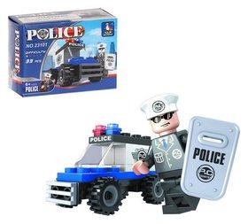 Конструктор Полицейский джип 33 детали