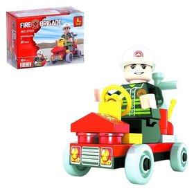 Конструктор Пожарная машина 31 деталь