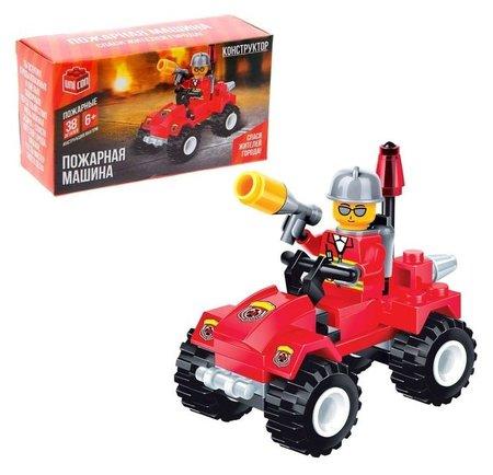 Конструктор Пожарная машина 38 деталей  Unicon