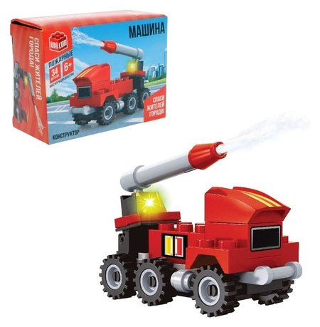 Конструктор Пожарная машина 34 детали  Unicon