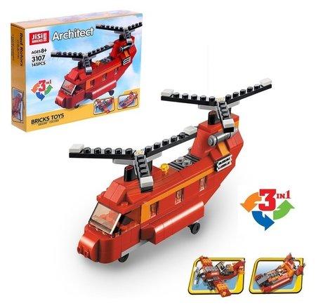 Конструктор Пожарный вертолёт 145 деталей  Jisi bricks