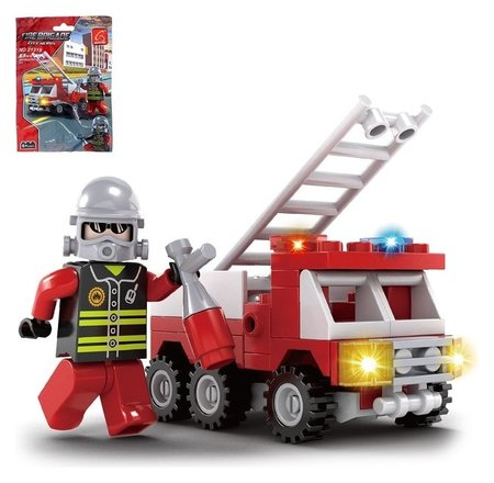 Конструктор Пожарная машина 63 детали  Ausini
