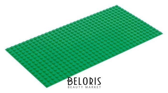 Пластина-основание для конструктора, цвет зелёный, 2,5×25,5 см КНР Игрушки