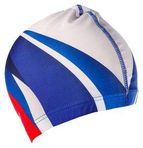 Шапочка для плавания взрослая цвет Триколор
