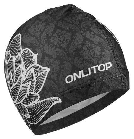 Шапочка для плавания взрослая Цветок  Onlitop