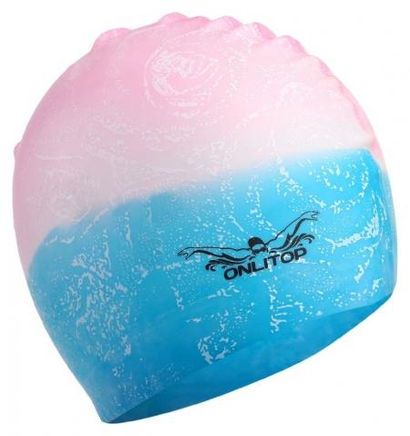 Шапочка для плавания взрослая силиконовая  Onlitop