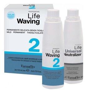 Набор Химическая завивка для поврежденных волос Life Waving Kit 2 FarmaVita