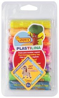 Пластилин на растительной основе 8 цветов неоновый  Jovi