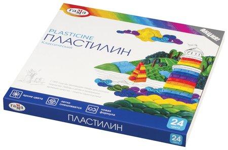 "Пластилин ""Классический"" 24 цвета со стеком  Гамма"