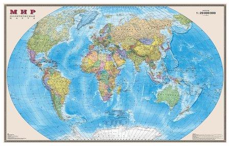 Карта настенная Мир Политическая карта  Dmb