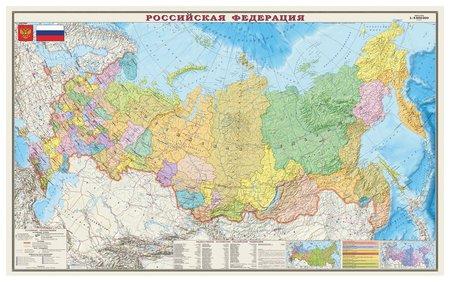 Карта настенная Россия Политико-административная карта  Dmb