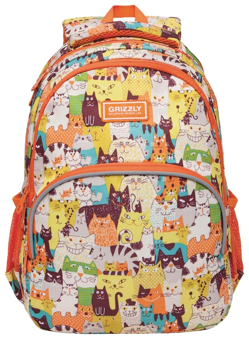 Рюкзак школьный Cat Puzzle  Grizzly
