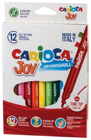 """Фломастеры 12 цветов """"Joy""""  Carioca"""